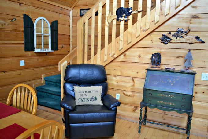 Lazy Bear Cabin Stairwell