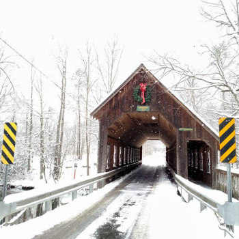 Emerts Cove Covered Bridge Near Lazy Bear Cabin