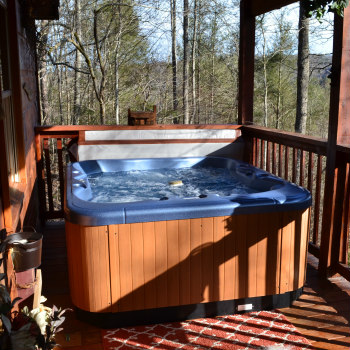 Lazy Bear Hot Tub Privacy